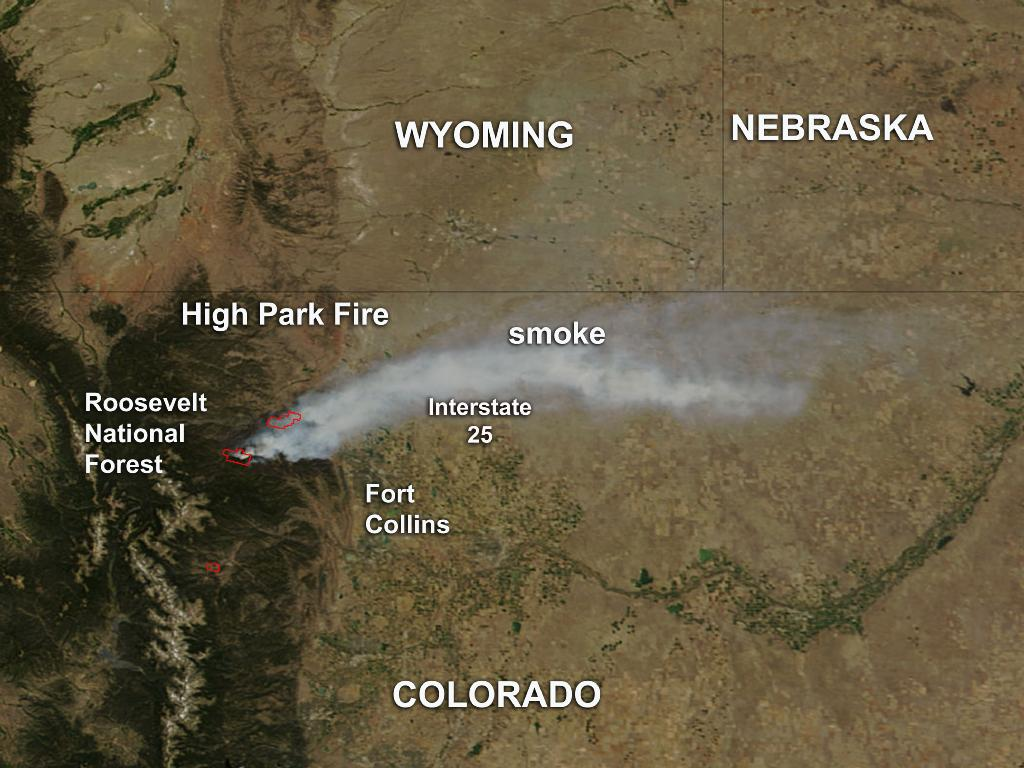 High Park Fire in Colorado