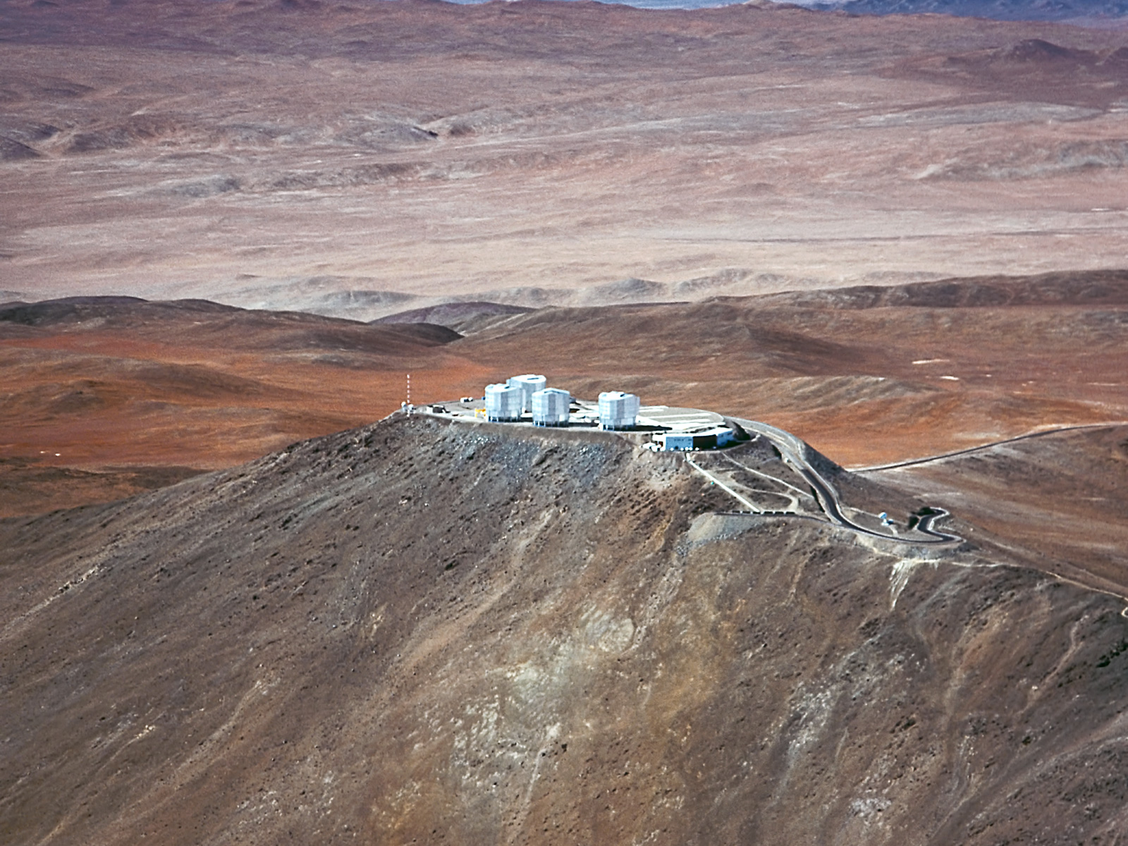 Paranal Observatory and the Volcano Llullaillaco