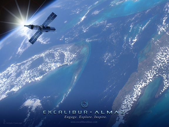 EA space station concept illustration. Photo released June 1, 2011.