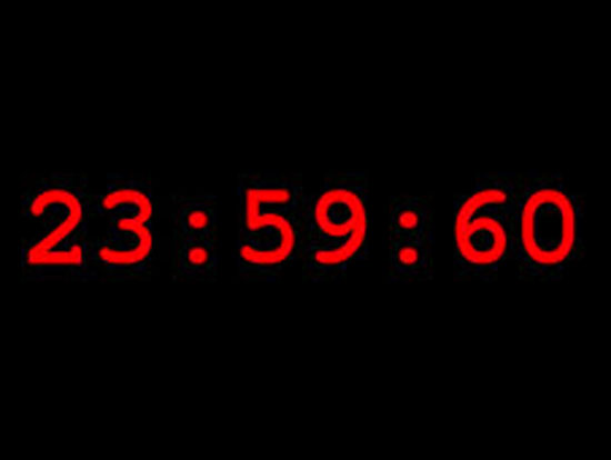 Leap Second Means Longer Saturday