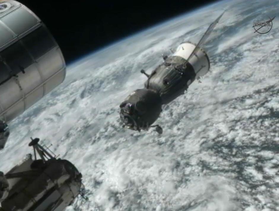 Expedition 31: Soyuz TMA-03M Undocks from Station