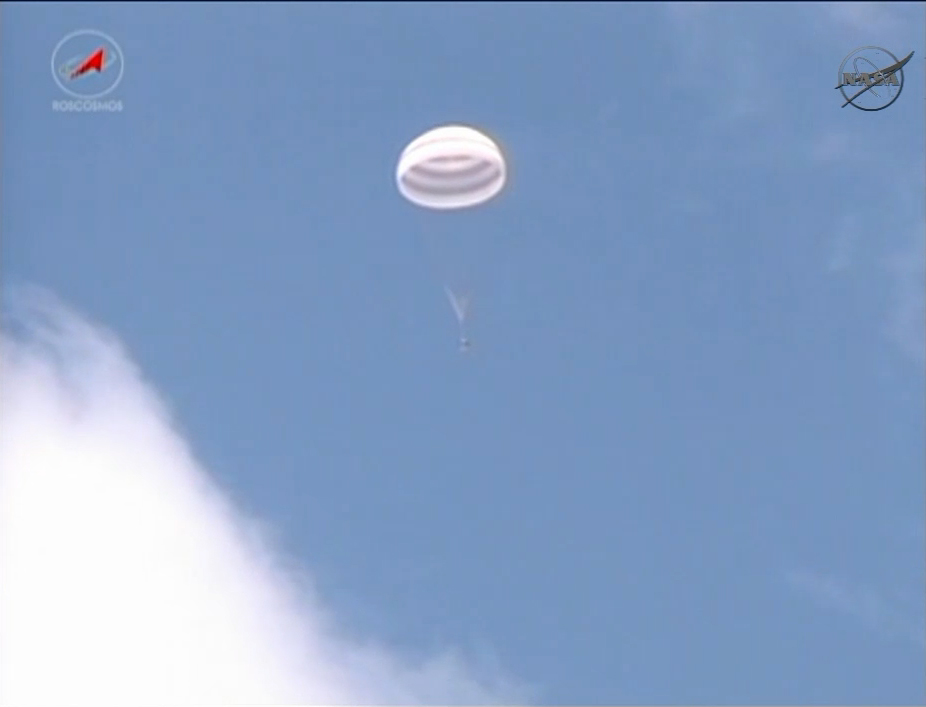 Expedition 31: Soyuz Capsule Descends to Earth