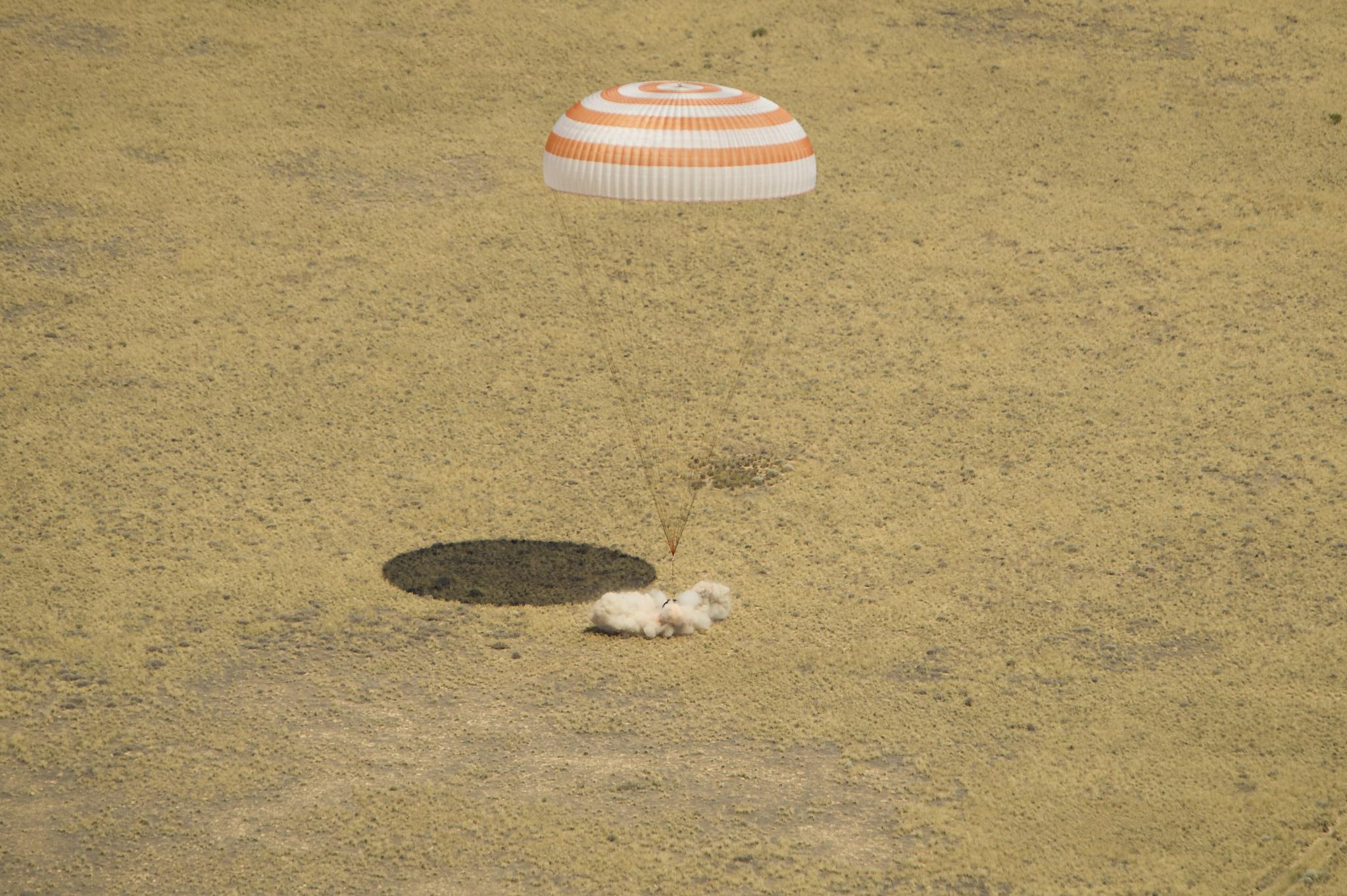Expedition 31: Soyuz Spacecraft Touchdown!