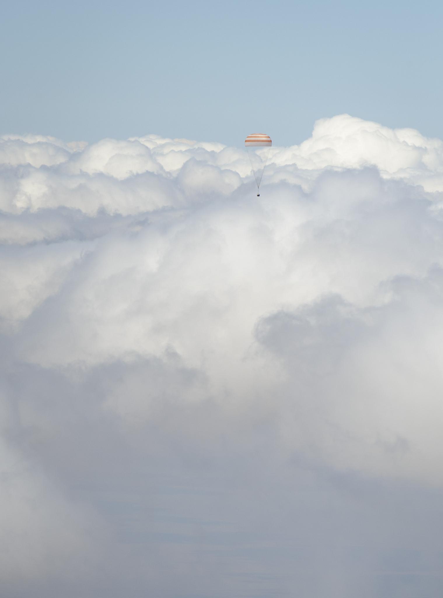 Expedition 31: Soyuz Gumdrop in the Clouds