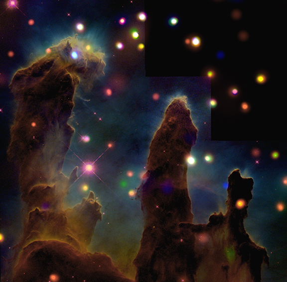 X-Ray Images in the Eagle Nebula