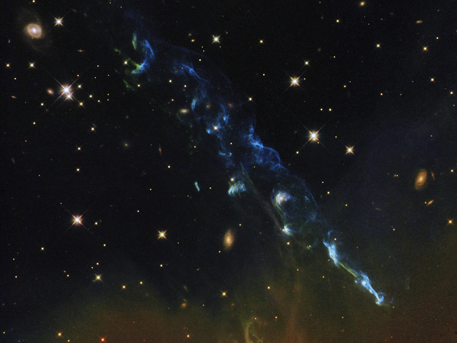 NASA's Hubble Views a Cosmic Skyrocket