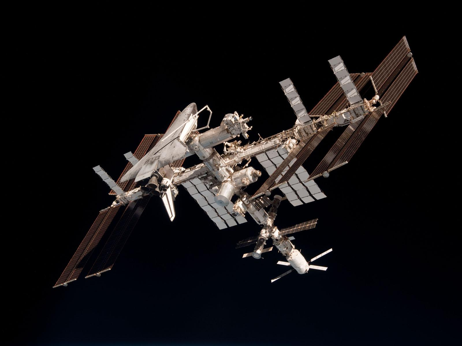 ISS and the Docked Space Shuttle Endeavour