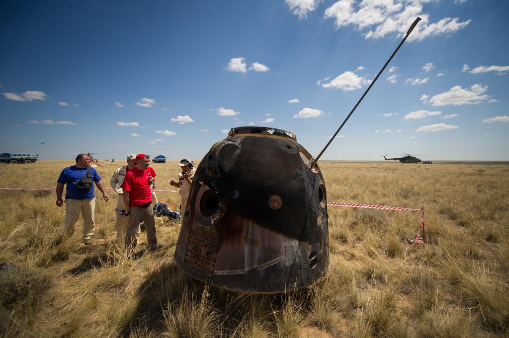 Rescuers Approach Capsule