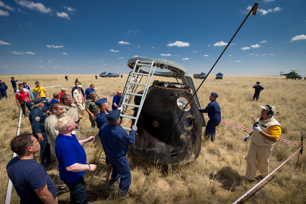 Getting out of Soyuz Capsule