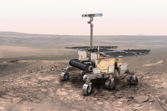 A concept image for the ExoMars rover that is being developed for a 2018 mission to Mars.