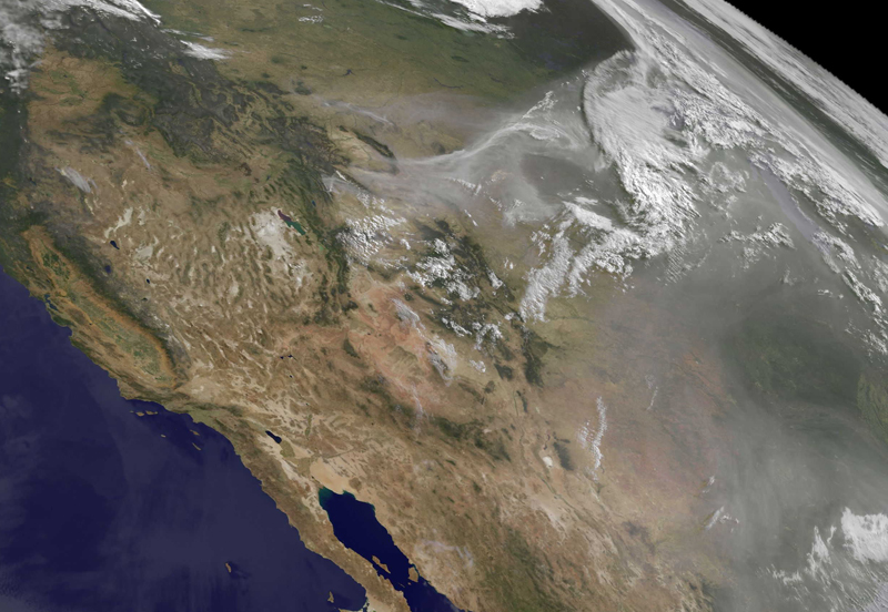 Western Wildfire Smoke Plume Reaches Atlantic Ocean