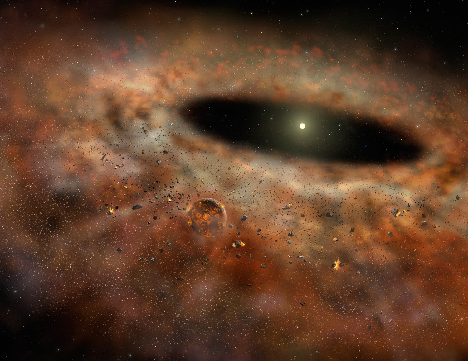 Vanishing Dust Belt Around Star Baffles Scientists