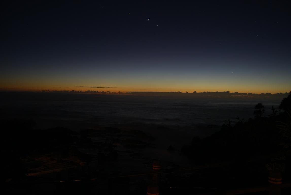 Venus and Jupiter in Coolangatta Night Sky