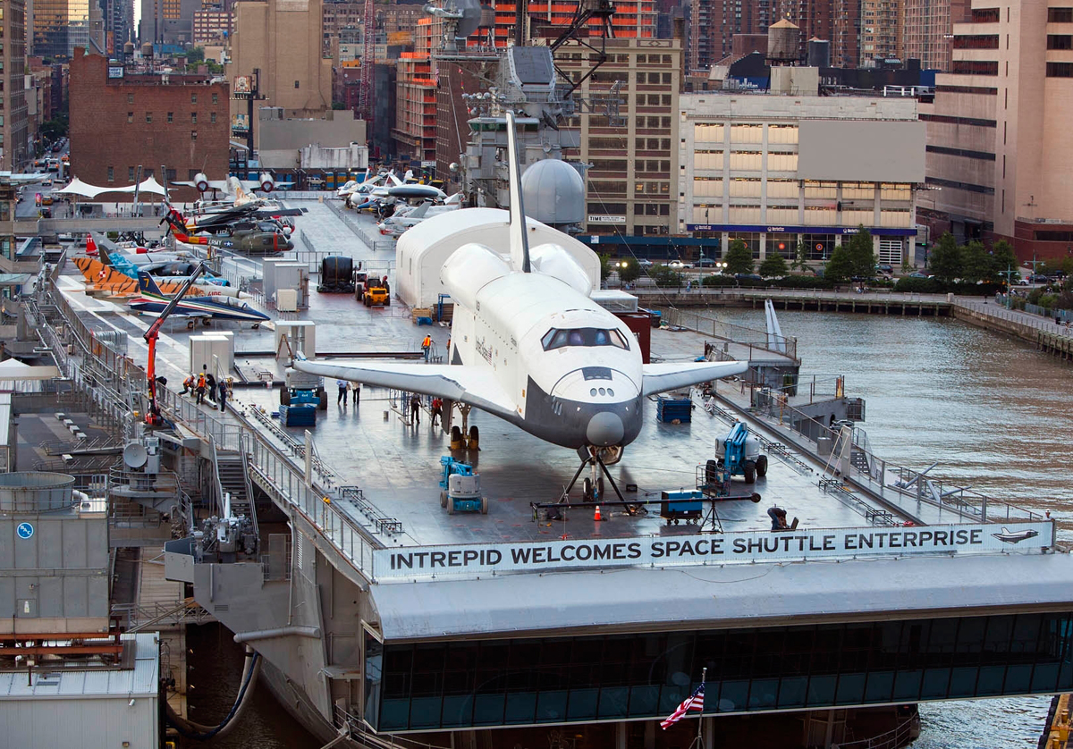 Space Shuttle Enterprise Before Being Covered