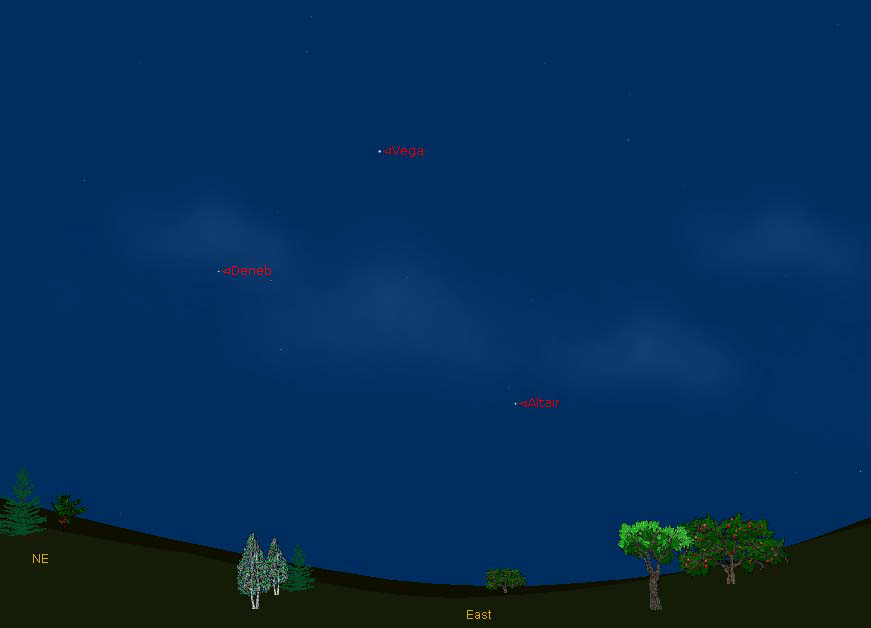 Summer Triangle July 2012 Sky Map