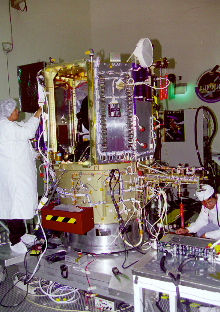 Space History Photo: Deep Space 1 in Cleanroom