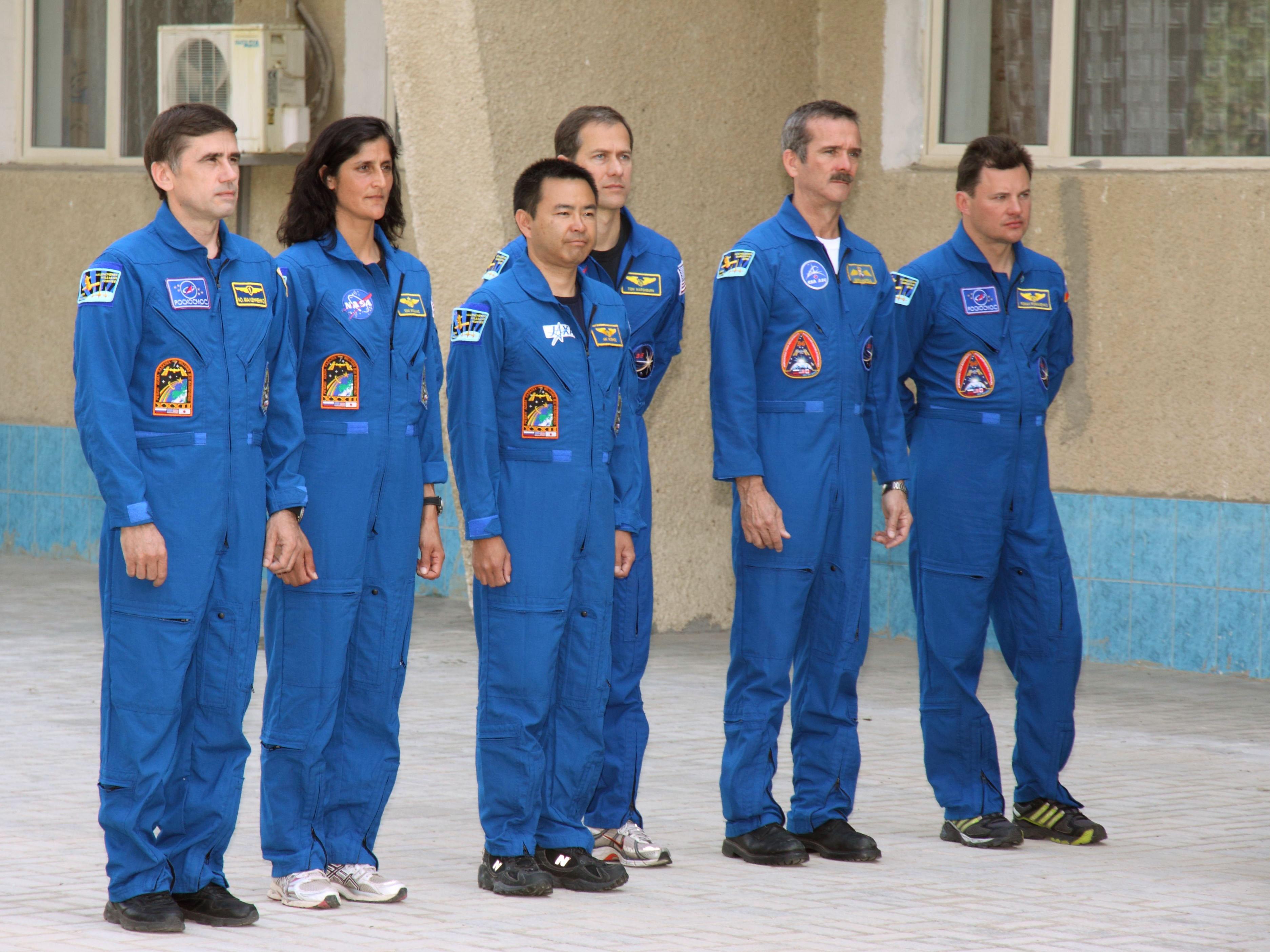 Crew Members Attend Ceremonies