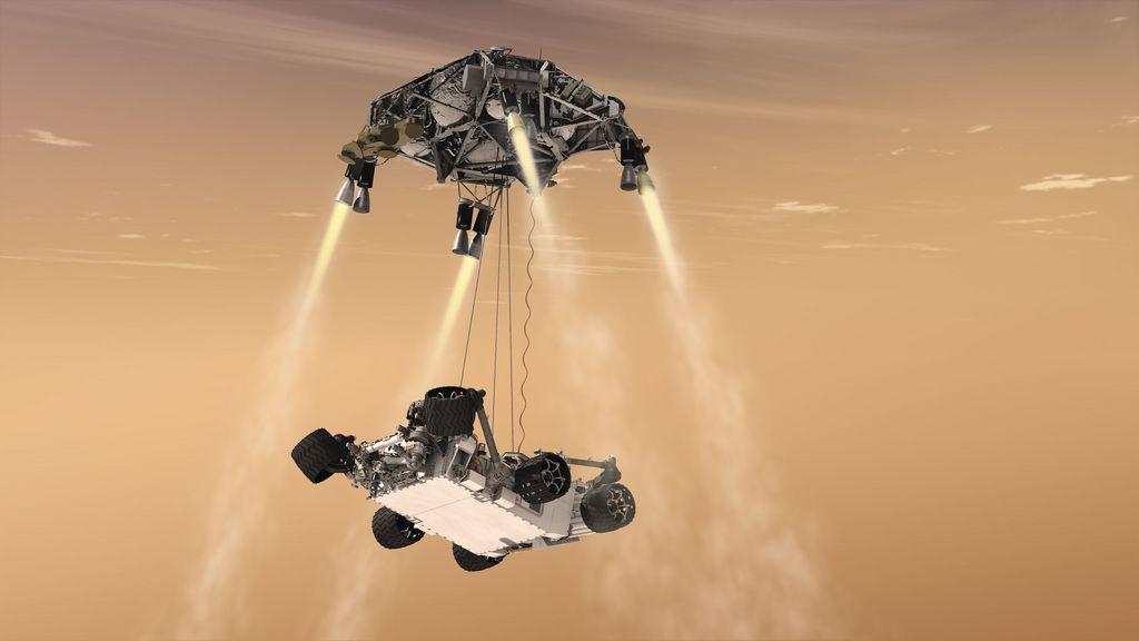Rover Using Sky Crane