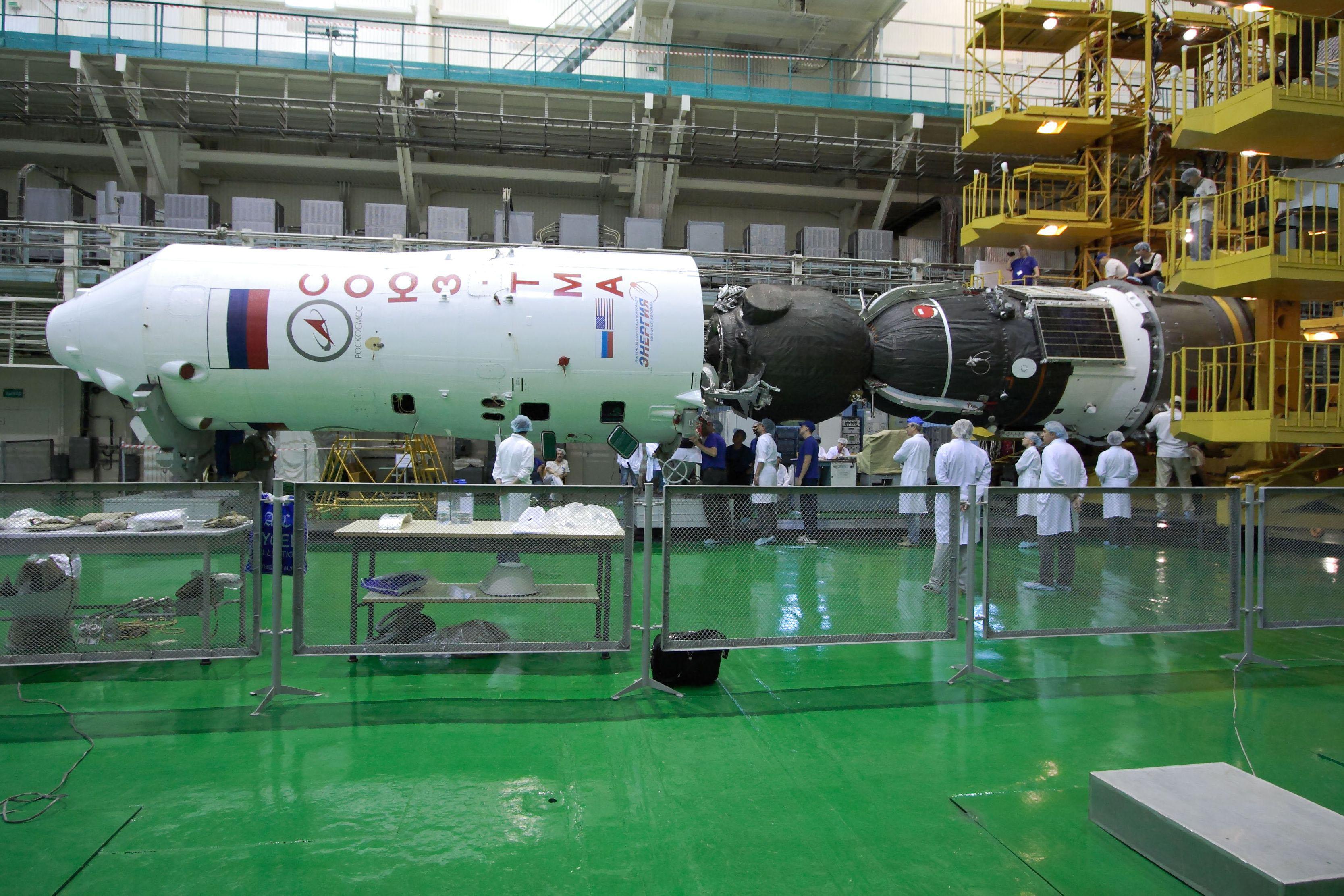 Soyuz Rocket Readied