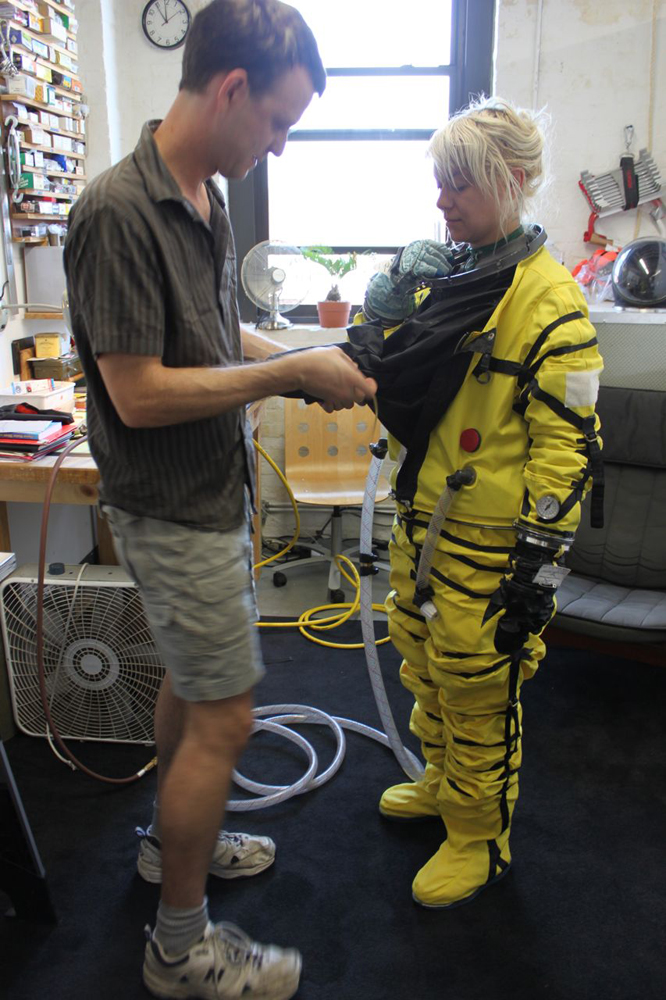 Donning a Final Frontier Design Spacesuit