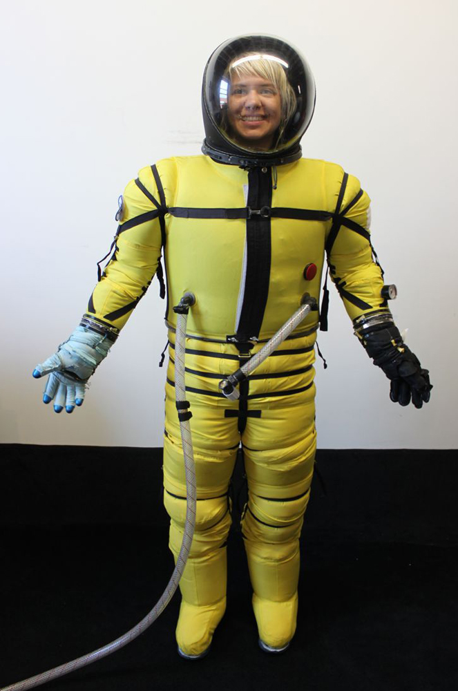 Front View of Final Frontier Design Spacesuit
