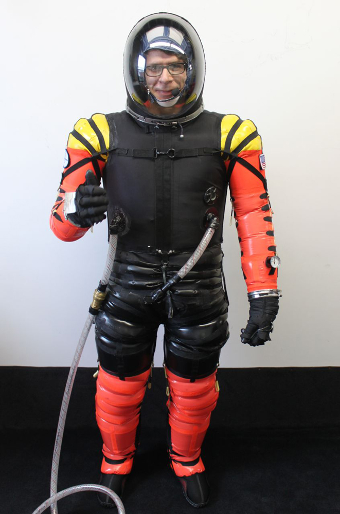 Multi-Colored Final Frontier Design Spacesuit
