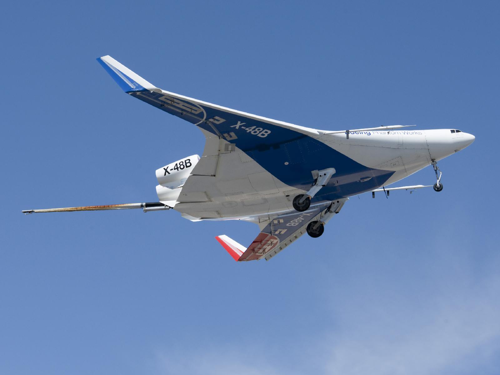 X-48B in Flight
