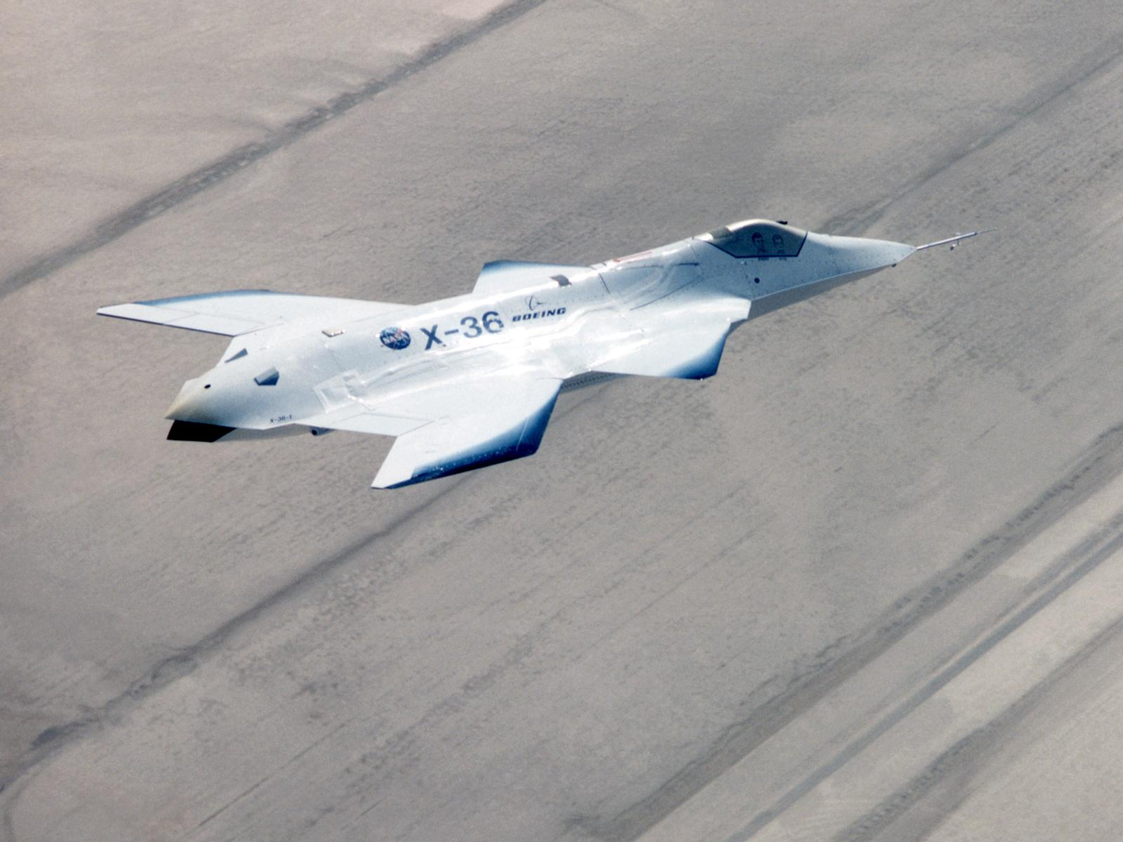 X-36 Tailless Fighter Agility Research Aircraft