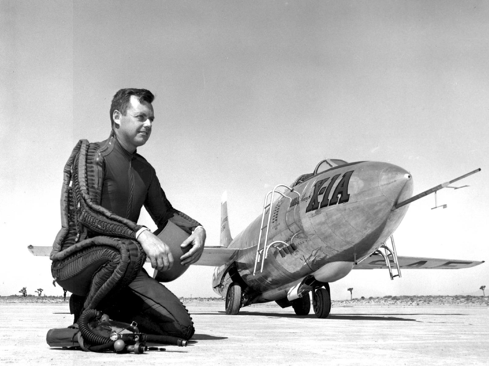 Maj. Arthur 'Kit' Murray with X-1A