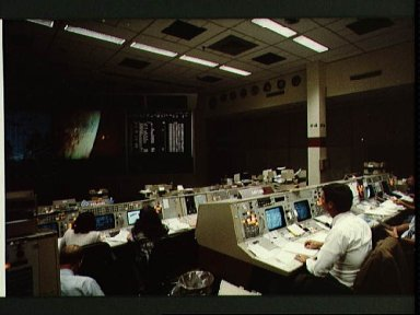 Mission Control Center during STS 41-D