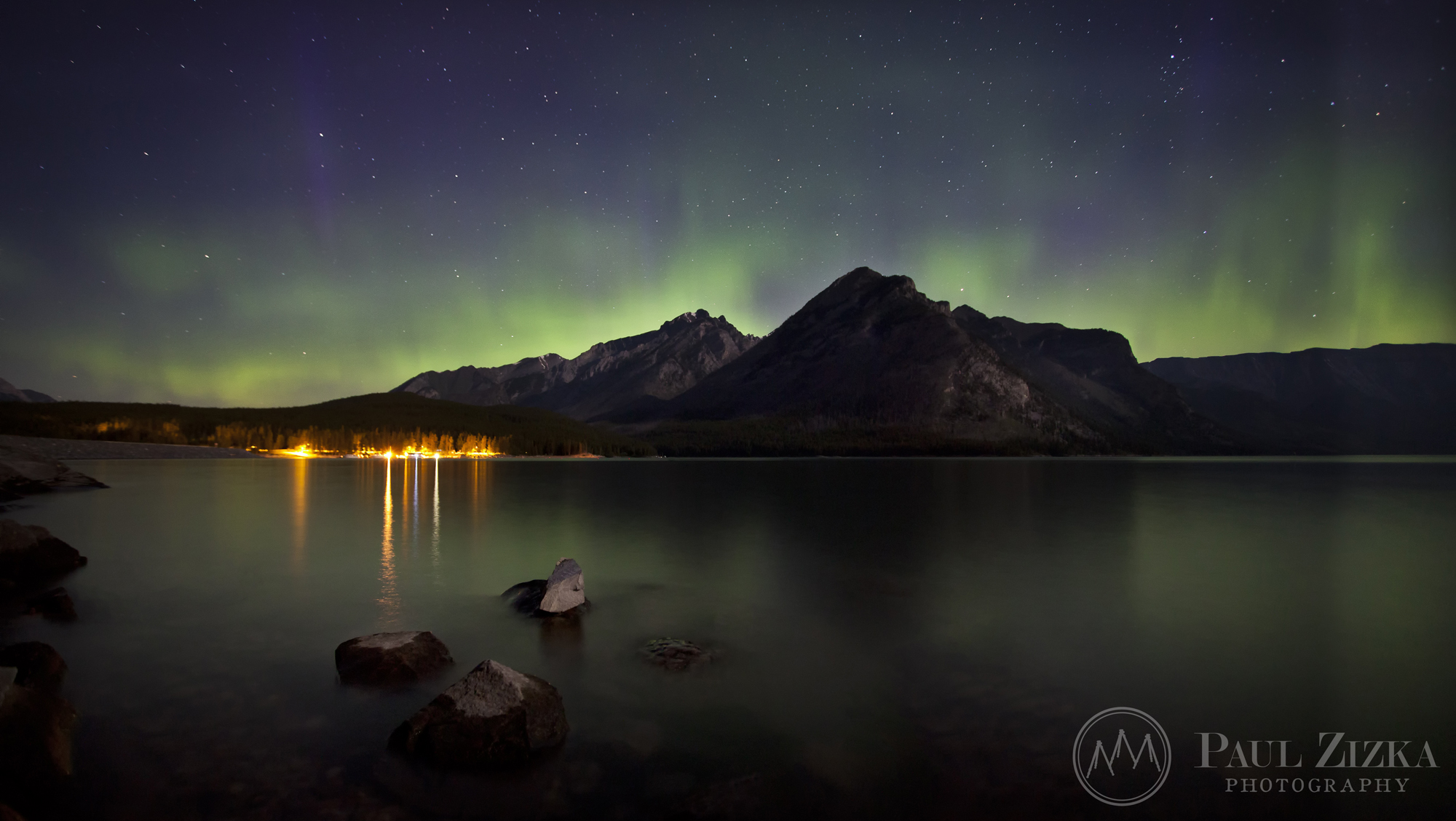 Aurora over Banff National Park, Canada