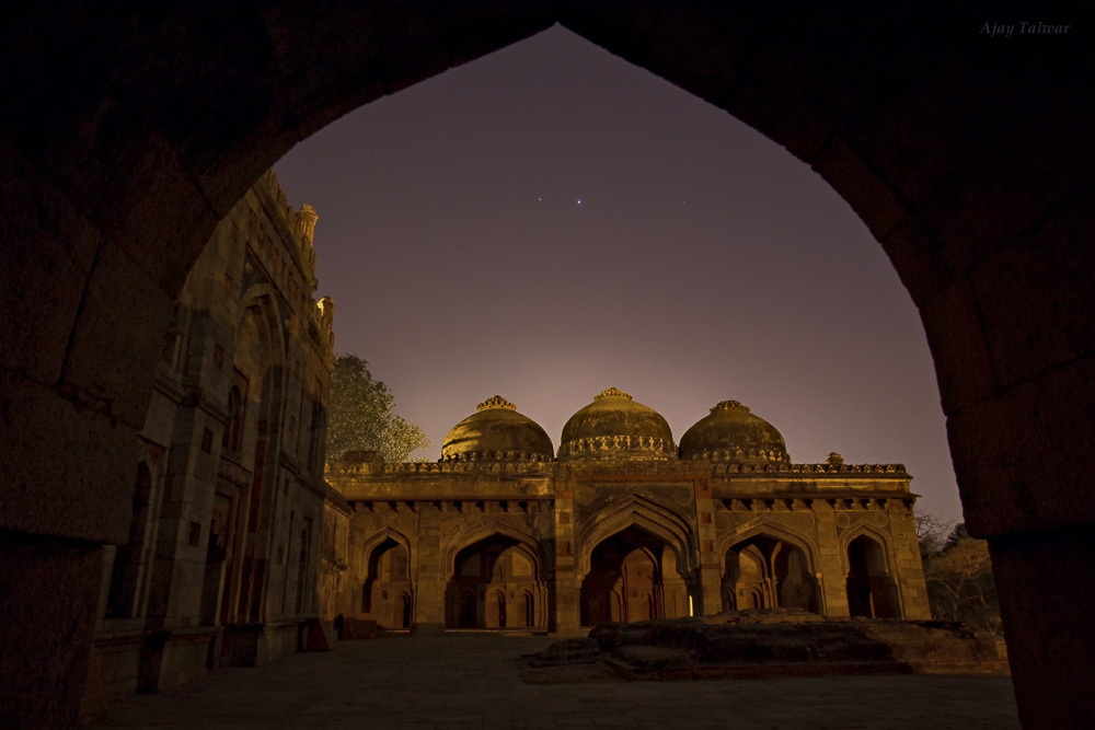 Venus and Jupiter Shine Over Garden of Tombs (Photo)