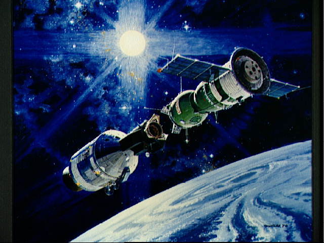 Artist's Conception of the Apollo-Soyuz Docking
