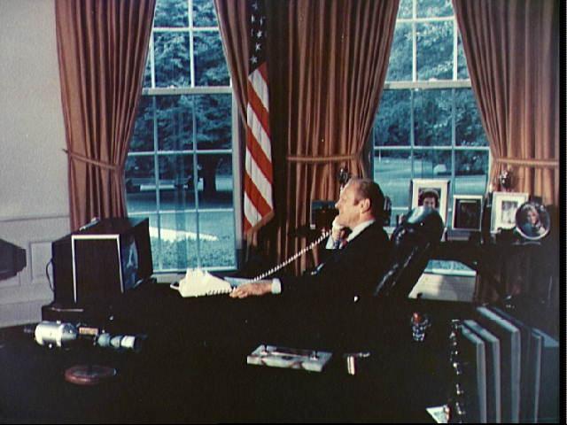 President Gerald Ford Calls ASTP Crew