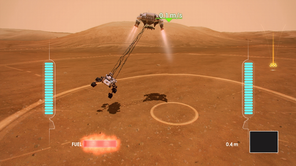 Mars Rover Landing Video Game Screenshot