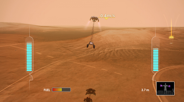 Mars Rover Landing Video Game Screenshot # 11