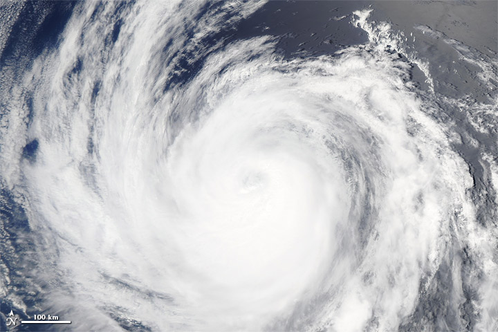 Hurricane Fabio Spotted from Space