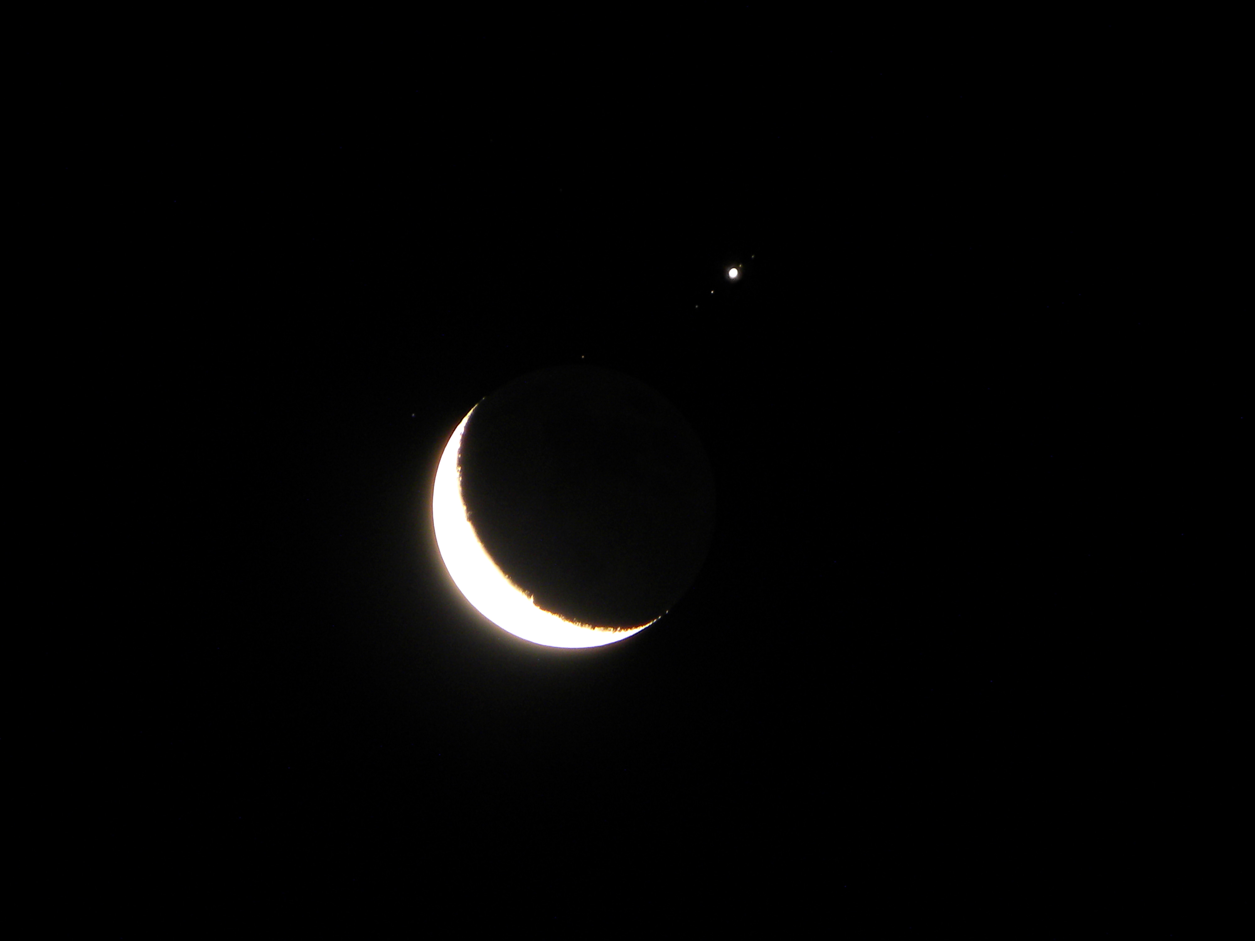 Moon, Jupiter and Jovian Satellites: July 15, 2012