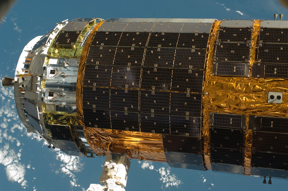 Japanese H-II Transfer Vehicle (HTV) Closeup at ISS