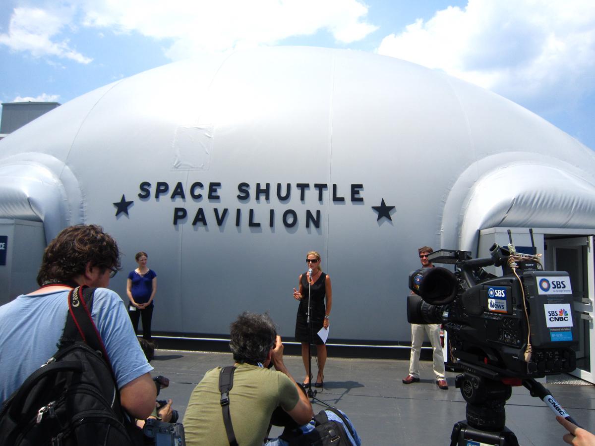 Space Shuttle Pavilion Opens