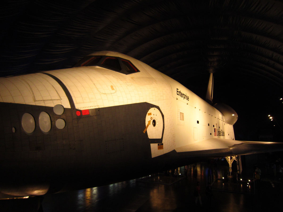 Space Shuttle Enterprise in New Intrepid Museum Pavilion
