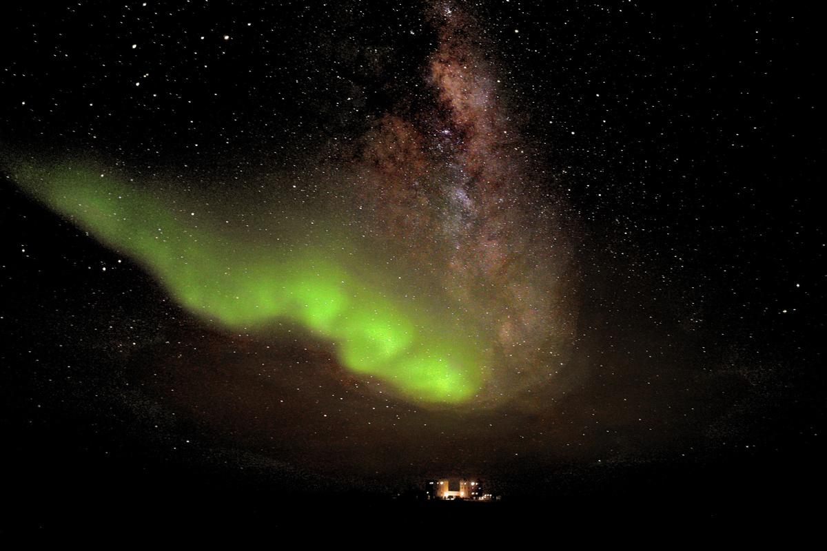 Aurora Australis over Concordia Station