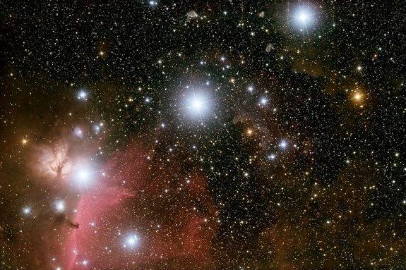 The stars Alnilam, Mintaka and Alnitak form Orion's belt.