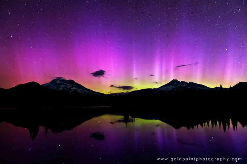 Aurora over Sparks Lake