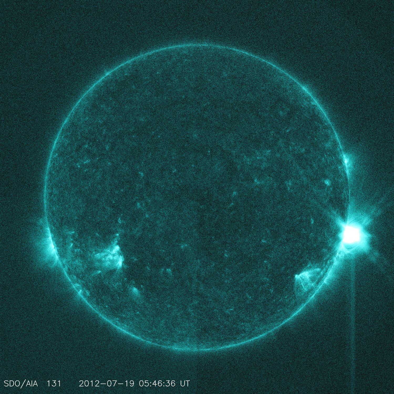 Video: Huge Sunspot Fires Off Intense Solar Flare