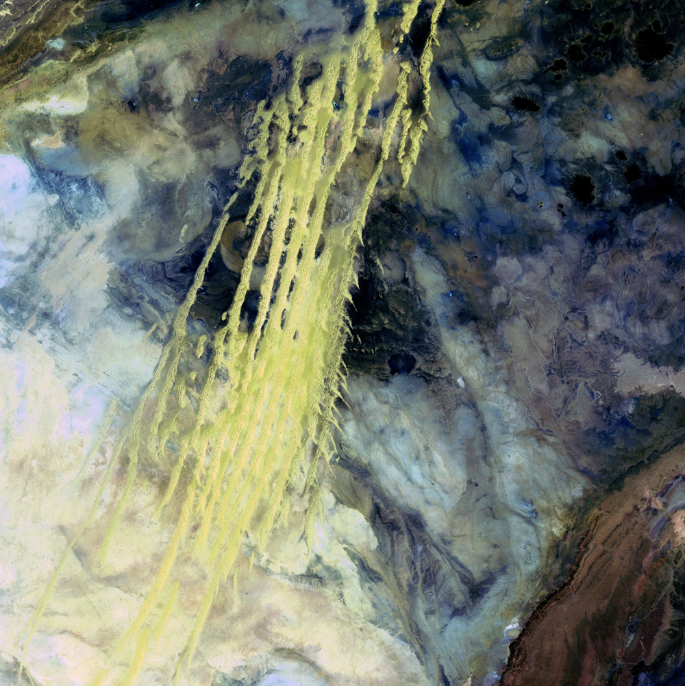 4th Place: Algerian Abstract Landsat 5 Acquired April 8, 1985
