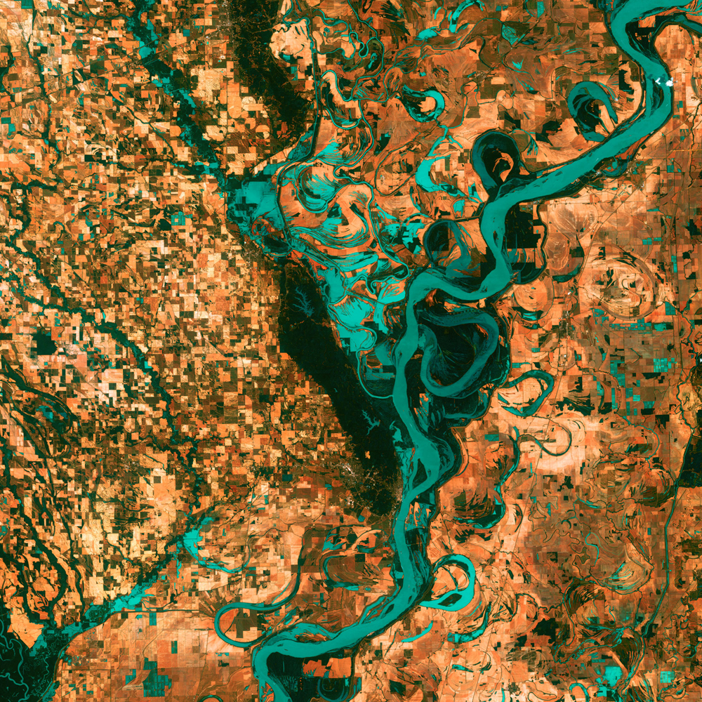 3rd Place: Meandering Mississippi Landsat 7 Acquired May 28, 2003