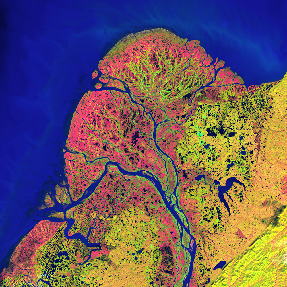 2nd Place: Yukon Delta Landsat 7 Acquired September 22, 2002