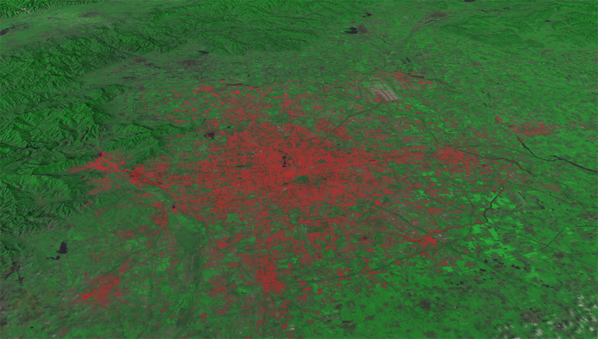 Landsat Data of Beijing in 2010