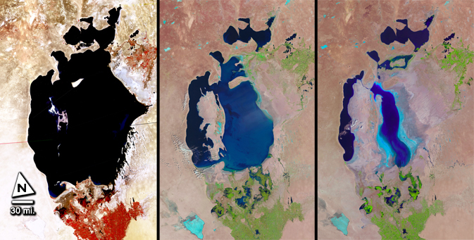 A Shrinking Aral Sea